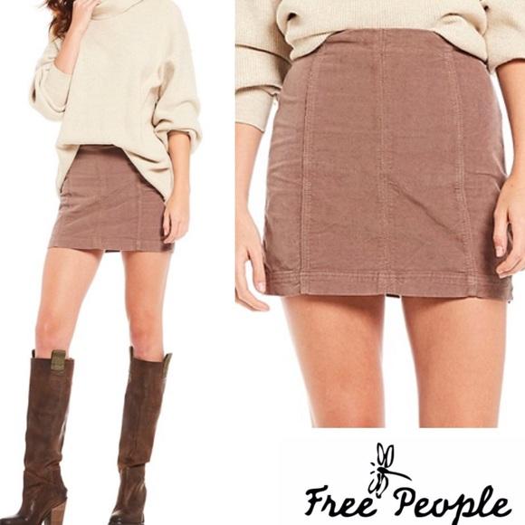 dd74710a2 Free People Skirts | Nwt Modern Femme Cord Mini | Poshmark